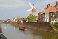 Maud Foster Windmill on the River Witham, Boston, Lincolnshire